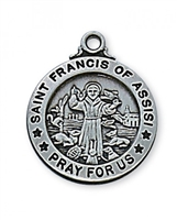 St. Francis of Assisi Antique Silver
