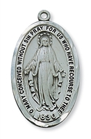 "Miraculous Medal 24"" Chain"