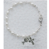 First Communion Pearl Celtic Irish Bracelet