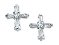 First Communion Crystal Zirconia Earring