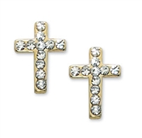 First Communion Crystal & cross Earring
