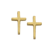 First Communion Gold Plated Cross Earring