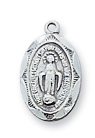 "Miraculous Medal6Sterling  16"" chain"