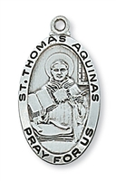 "St. Thomas Aquinas Sterling Silver 24"" Chain"