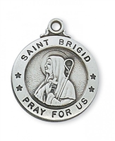 St. Brigid of Ireland Sterling Silver
