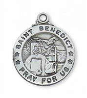 St. Benedict Sterling Silver