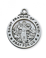 St. Francis of Assisi Sterling Silver