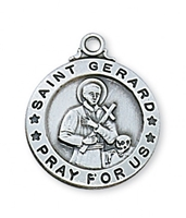 "St. Gerard Sterling Silver on 20"" Chain"