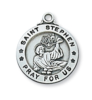 "St. Stephen Sterling Silver 20"" Chain"