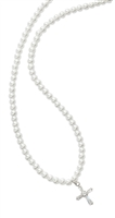 First Communion White Pearl Bead Necklace