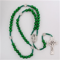 Rosary Corded St Patrick Celtic