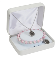 First Communion Miraculous Pendant and Bracelet