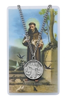St. Francis Patron Saint Medal/Prayer Card