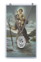 St. Christopher Patron Saint Medal/Prayer Card