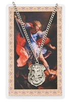 St. Michael patron medal and prayer card