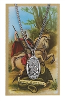 St. George Patron Saint Medal/Prayer Card