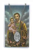 St. Joseph Patron Saint Medal/Prayer Card