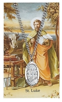 St. Luke Patron Saint Medal/Prayer Card
