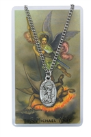 St. Michael Patron Saint Medal/Prayer Card