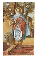 St. Mark Patron Saint Medal/Prayer Card