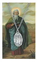 St. Matthew Patron Saint Medal/Prayer Card