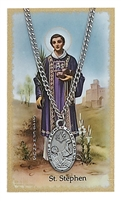 St. Steven Patron Saint Medal/Prayer Card
