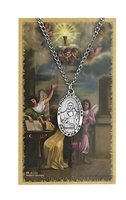 St. Thomas Aquinas Patron Saint Medal/Prayer Card