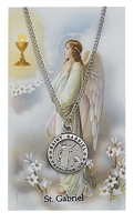 St.  Gabriel Patron Saint Medal/Prayer Card