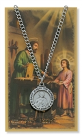 St.  Joseph the Worker Patron Saint Medal/Prayer Card