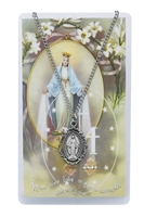Miraculous Medal Pewter Medal & Prayer Card