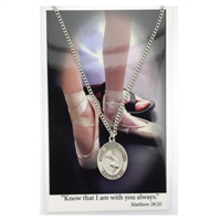 Dance St. Chistopher Medal Prayer Card Set
