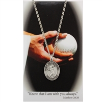 Softball St. Chistopher Medal Prayer Card Set
