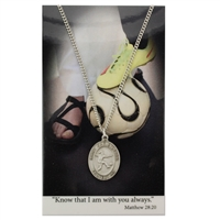 Soccer St. Chistopher Medal Prayer Card Set