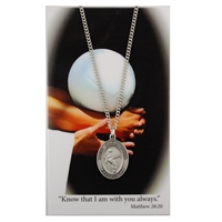 Volleyball St. Chistopher Medal Prayer Card Set