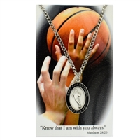 Basketball St. Chistopher Medal Prayer Card Set