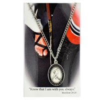 Hockey St. Chistopher Medal Prayer Card Set