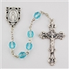 Birthstone rosary- Aquamarine- March
