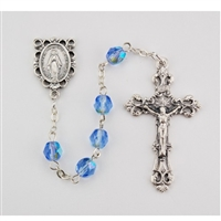 Birthstone rosary- December - Zircon 6MM Rosary