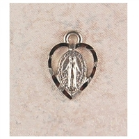 "Miraculous Medal Heart 18"" Chain"