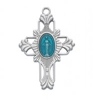 "Miraculous Medal cross 18"" Chain"