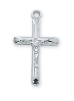 "Pewter Crucifix on 16"" Chain"