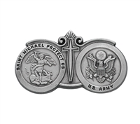 Army St. Michael Pewter Visor Clip