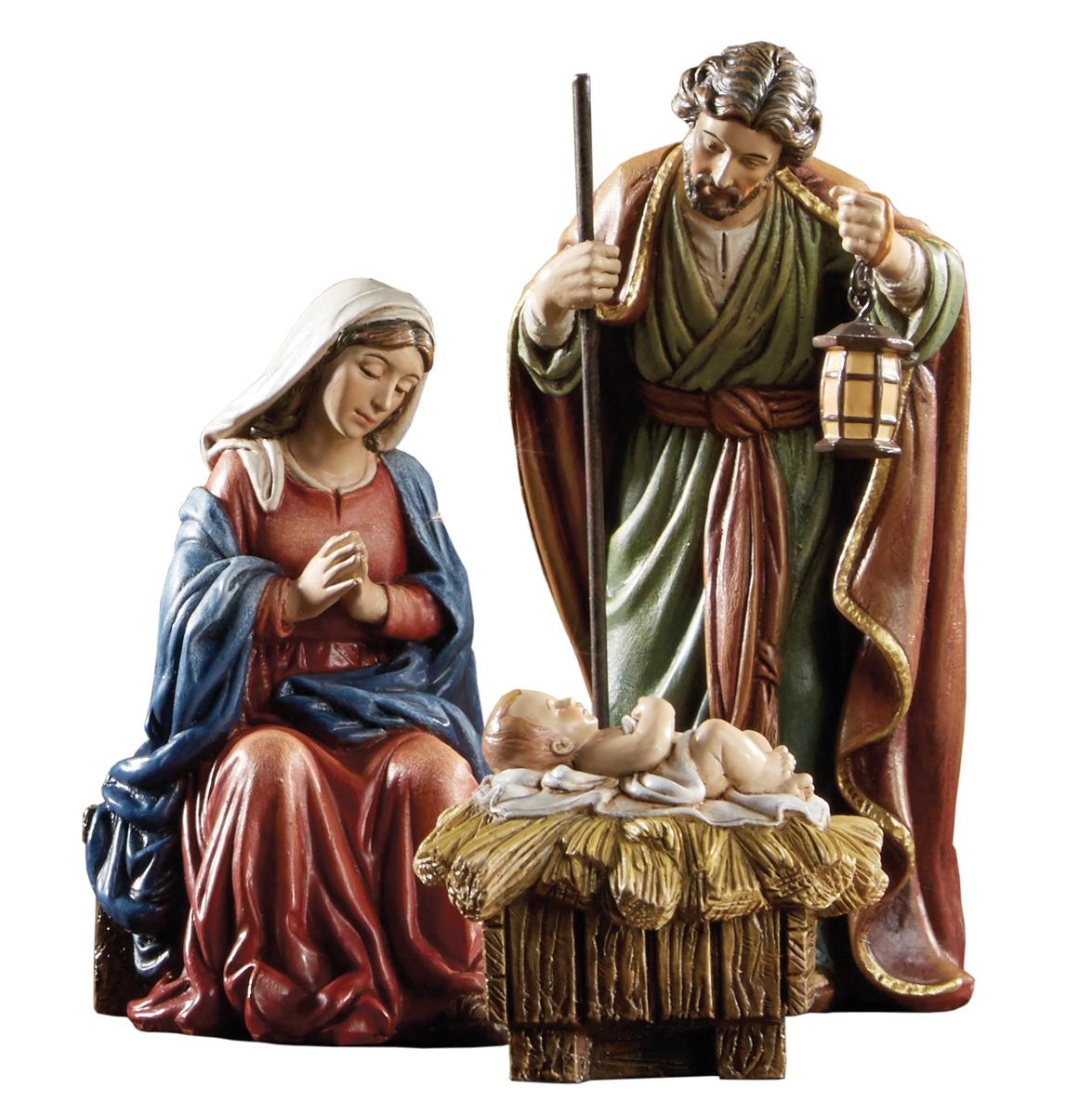 Avalon Gallery Michael Adams Christmas Holy Family 9-Piece Nativity Scene Set
