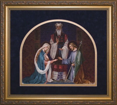 "Framed Marriage of Mary & Joseph 16""X18"""