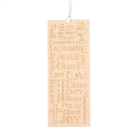First Communion Wood Bookmark