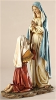 Our Lady of Lourdes with Bernadette 10.5""