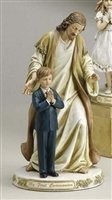 First Communion statue Jesus with Praying Boy