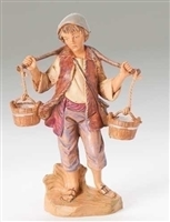 "Fontanini Noah with Water Bucket 5"" Scale"