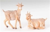 "Fontanini Two Goats 5"" Scale"
