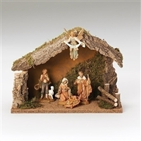 Fontanini Nativity 5 Piece with Italian Stable